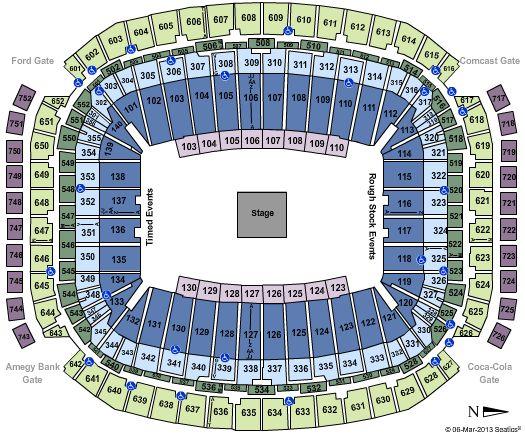 Reliant Stadium seating map. 2014 Houston Rodeo Concert Lineup