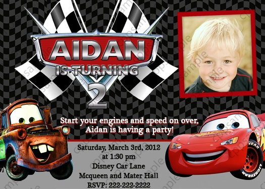 41 best disney cars party images on pinterest | disney cars party, Birthday invitations