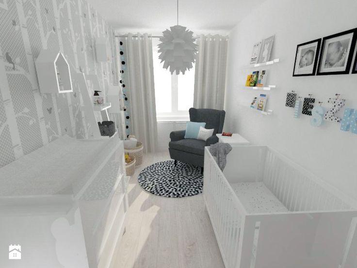 Aranżacje wnętrz - Pokój dziecka: Projekt pokoju dziecięcego - Mały pokój dziecka dla chłopca dla dziewczynki dla niemowlaka, styl nowoczesny - white interior design. Przeglądaj, dodawaj i zapisuj najlepsze zdjęcia, pomysły i inspiracje designerskie. W bazie mamy już prawie milion fotografii!