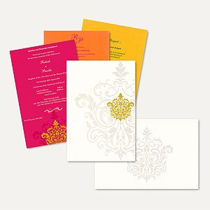 Hindu Wedding Cards-HU2281  Full View (With Any 2 Insert)
