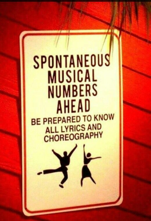 (Theatre kid problems) haha...
