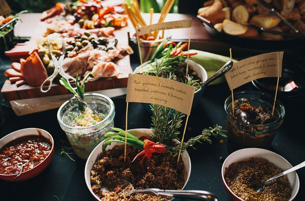 Yum food spread at this reception