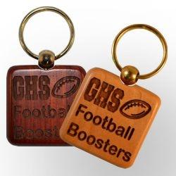Square Wood Key Chain www.GoodsForGiving.com