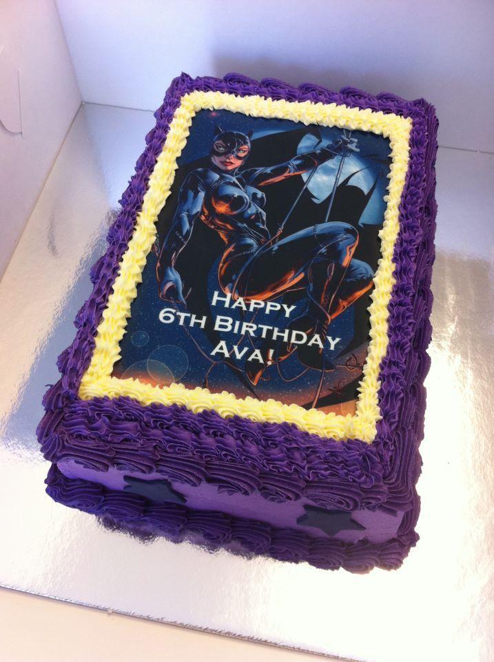 Catwoman Image Cake -