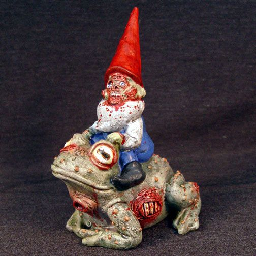 Zombie Gnome riding on a Zombie Toad