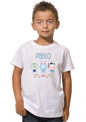 Camiseta Animalitos Niños