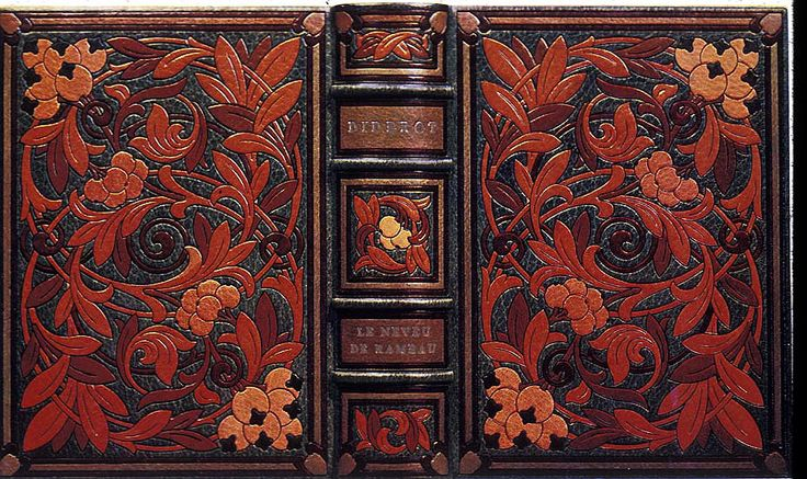 Henri Marius Michel, binding decorated with floral ornamentation, on Denis Diderot, Le neveu de Rameau, illustrated by Bernard Naudin (Paris: Auguste Blaizot, 1924).