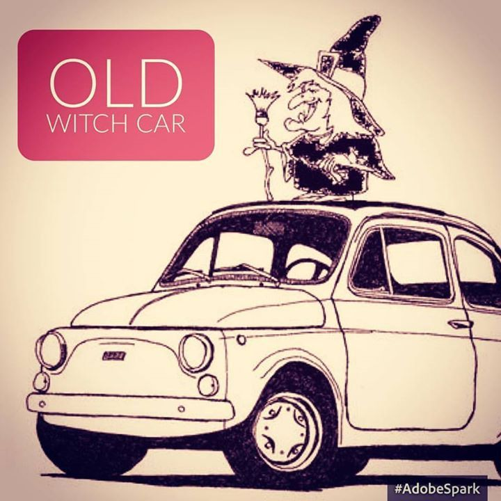 Due anziane signore #befana #fiat500 #oldwitch