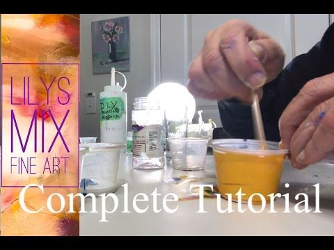 Complete Acrylic Pouring tutorial for beginners to advanced. How to get big Cells. If you enjoy my videos you can sponsor me directly by going to. directly b...
