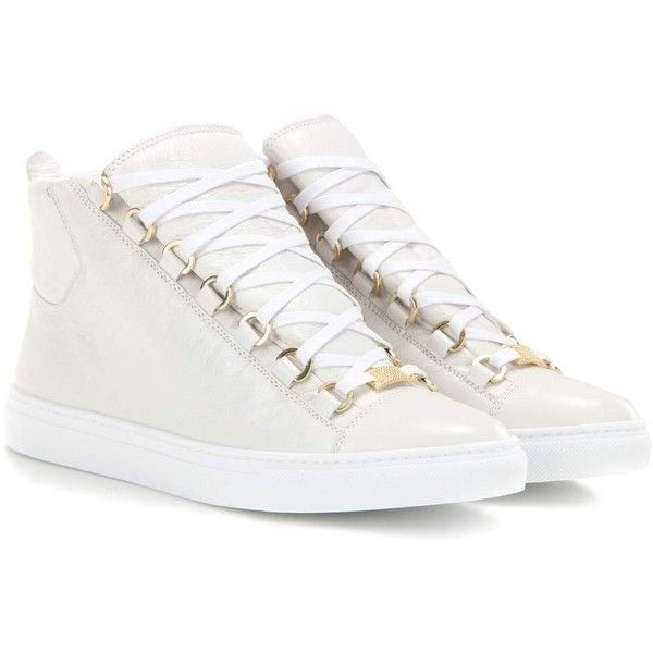 c6a0852ff483 Balenciaga Arena High-Top Leather Sneakers ( 440) ❤ liked on Polyvore  featuring shoes