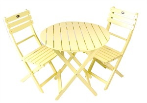 Yellow Bistro Table and Chair Set