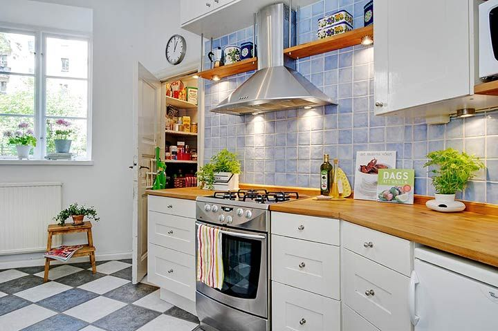 белая кухня в скандинавском стиле