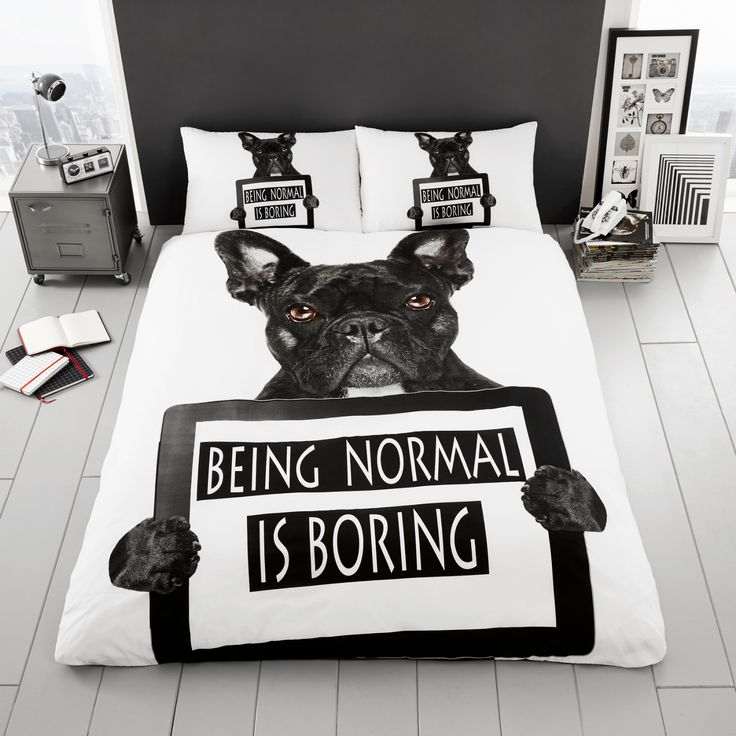 Funda nórdica perro Bulldog
