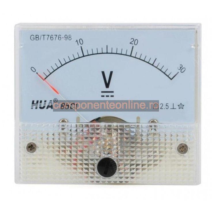 Voltmetru analogic de panou, 30V, curent continuu - 111515