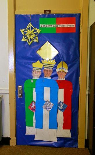 Christmas Door Decorations, Dec. 13, 2013   Jesuit High School of New Orleans