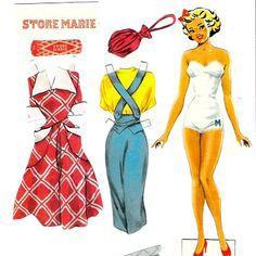 I 1940'erne og helt frem til 1960'erne var Marie som påklædningsdukke et tilbagevendende indslag i Billed Bladet #karenvolf #mariekiks #klassiker