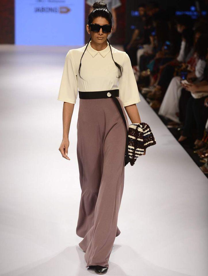 Runway look by Munkee See Munkee Doo #india #fashion #runway #trousers #womenswear