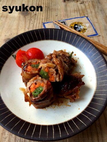 レンジで一発*お弁当にも。豚こま切れ肉の野菜巻き | 山本ゆりオフィシャルブログ「含み笑いのカフェごはん『syunkon』」Powered by Ameba