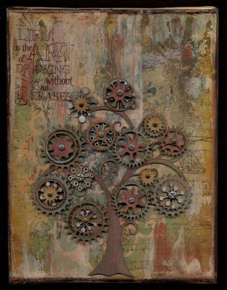 Life is the art of drawing without an eraser~ scrap gears tree! so cool!