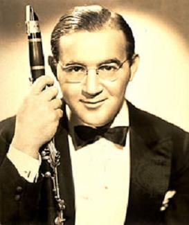 "Benny Goodman (1909 - 1986) Bandleader, Clarinettist, Composer. Famously known as ""The King of Swing."""