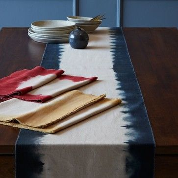 Dip Dye Table Runner Contemporary Tablecloths