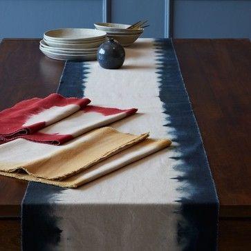 Dip-Dye Table Runner contemporary tablecloths