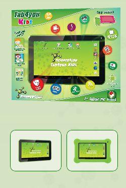 Com Tab4you Kids descobre: O Tab4you Kids é o tablet da Science4you criado a pensar nas crianças a partir dos dois anos. Mais resistente a quedas e a outras brincadeiras, este tablet tem um ecrã multi-touch de 7 polegadas e conteúdos exclusivos da Science4you dedicados aos mais novos.