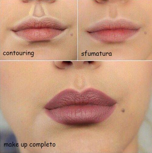 contouring contorno labbra