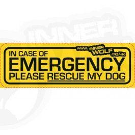 Emergancy Dog Car Sticker