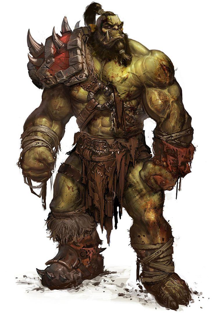 ogro... son enormes humanoides de aspecto tosco y desagradable, mal carácter y muy guerrilleros.