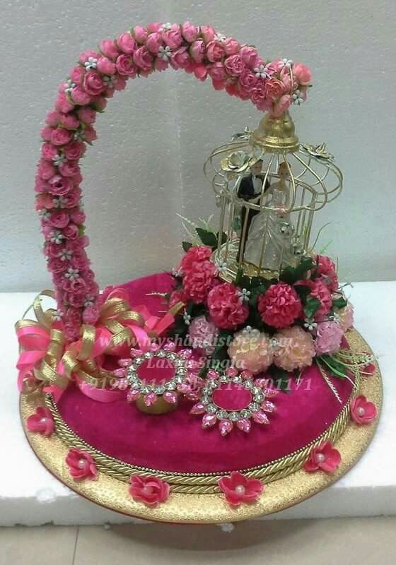 Indian Wedding Gift Basket Ideas : Pin by Juhii Sachdev on Ring Platter Pinterest Engagement rings ...