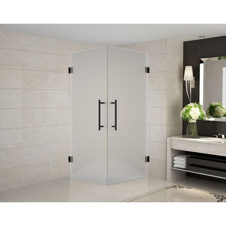 L Shaped Shower Tray Part - 46: Aston Vanora 30 In. X 30 In. X 72 In. Frameless Square Shower
