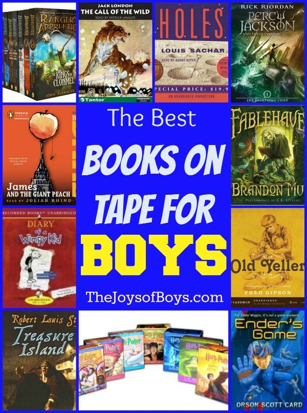 Best Books on Tape for Boys - According to Boys - The Joys of Boys