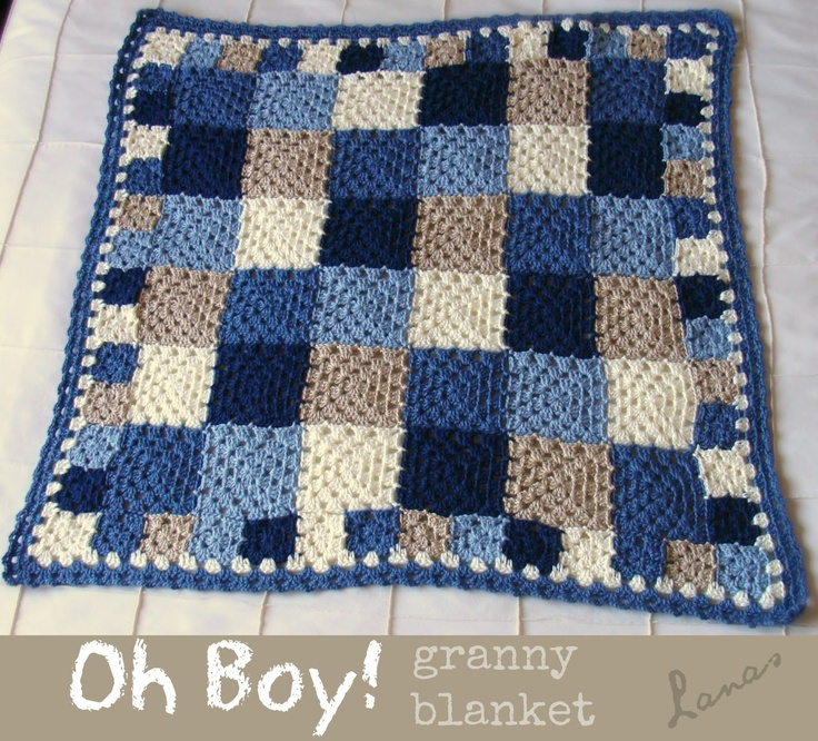 Granny squares blanket- love the colors