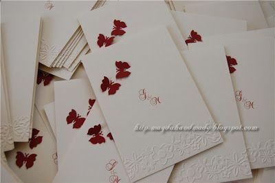 Handmade Wedding Invitations for Georgiana