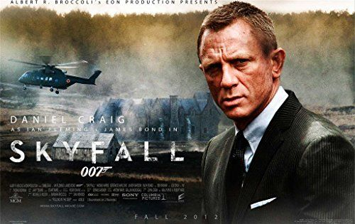 James Bond 007 Skyfall Movie Canvas Print Cheap Poster F2421-24x38 Inch @ niftywarehouse.com #NiftyWarehouse #Bond #JamesBond #Movies #Books #Spy #SecretAgent #007