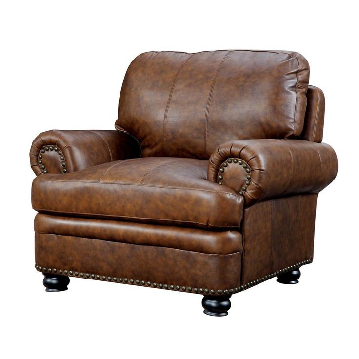William's Home Furnishing Rheinhardt Brown Transitional Style Living Room Chair
