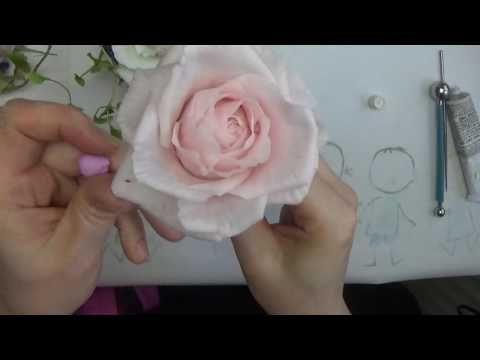 Сборка цветка Розы из ХФ от Риты - YouTube