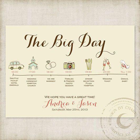 wedding day timeline - Charis Design Studio