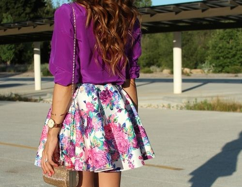 Love the colors and the skirt!