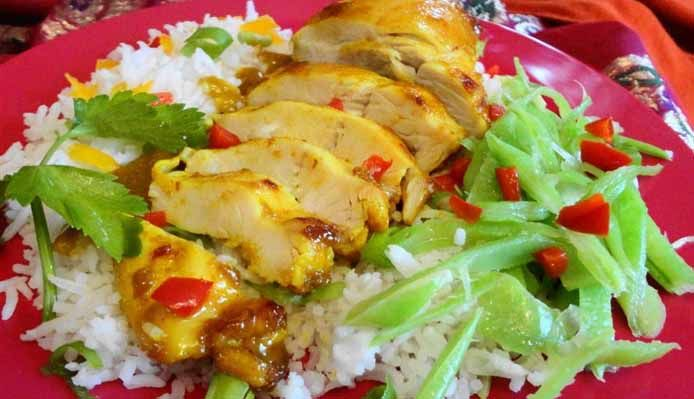Surinaams eten – Honey Masala Chicken (gezonde en gegrilde kip masala geglaceerd met honing)