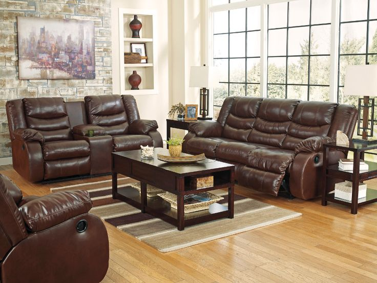 Get the beautiful BenchCraft Linebacker Reclining Sofa & Loveseat from  Bestway Rent to Own today! Perfect place to come home and relax at night. - 58 Best Images About Rana Furniture Classic Living Room Sets On