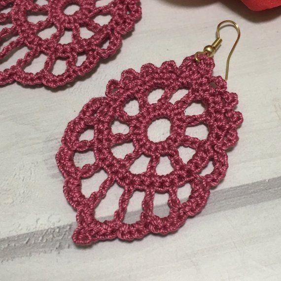85. ONE Crochet Earrings Pattern, Crochet Earring Pattern, PDF File – Crochet dangle earrings – PDF