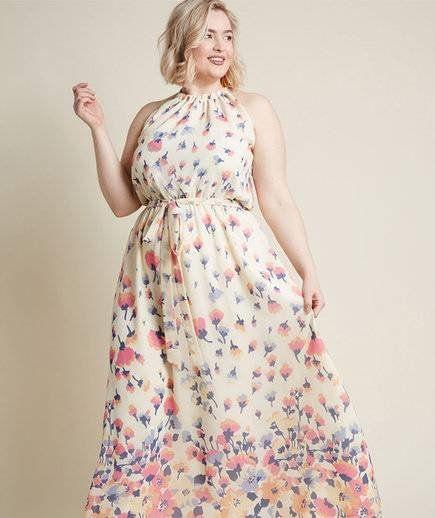 e8f2cfd9ef8 ModCloth Illuminated Elegance Chiffon Maxi Dress