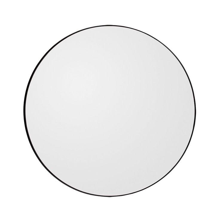 Circum Mirror Medium Ø90cm, Black £207. - RoyalDesign.co.uk