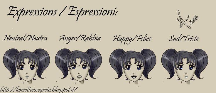Anche l'esercizio sulle #espressioni base è concluso. Me ne manca soltanto uno ma che porterò avanti domani. #manga #lesson #girl #expressions #happy #sad #anger #neutral #disegnodigitale #paittoolsai #photoshop #draw #loscrittoiosegreto
