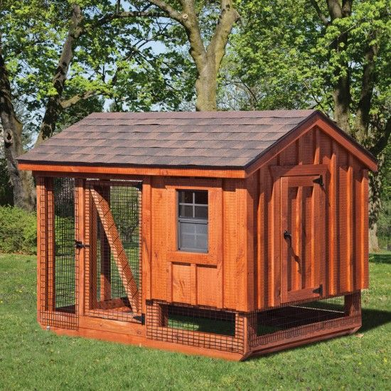 Amish made cedar a frame chicken coop amish chicken for A frame chicken