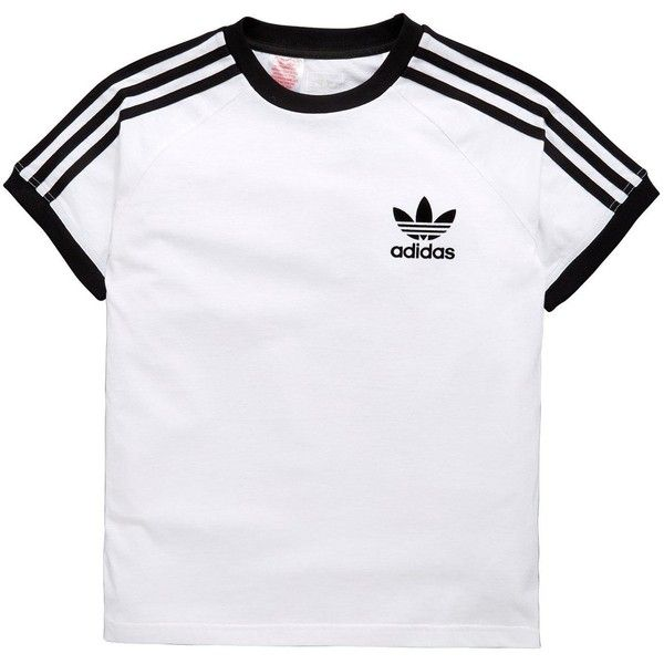 Adidas Originals Older Boy Clfrn Tee ($26) ❤ liked on Polyvore featuring tops, t-shirts, cotton t shirts, cotton tee, adidas originals, adidas originals t shirt and adidas originals tee