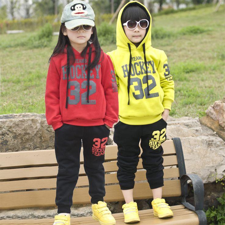 Trajes de abrigo de invierno de Corea del envío libre Zhongshan Universidad Deportes infantiles, niños y niñas suéter de algodón ropa de otoño de los niños