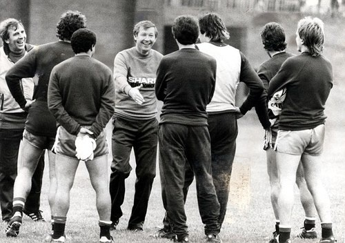 alex ferguson's first day at Man United